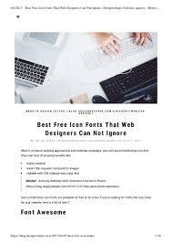 Best Blog Designers Best Free Icon Fonts That Web Designers Software Agency Meteor Pr U2026
