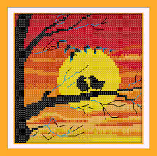 cross stitch landscape picture more detailed picture about the