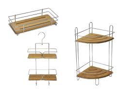 Bamboo Shelves Bathroom Bathroom Metal Wire Shelf Basket Bamboo Board Chrome