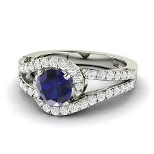 amethyst diamond engagement ring 1 37 ct natural blue sapphire u0026 diamond engagement ring in 14k