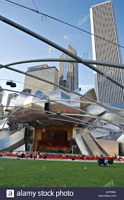 parks chicago illinois pritzker pavilion designed by frank gehry