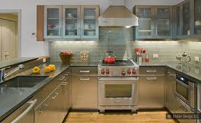 gray cabinets countertop backsplash idea backsplash com