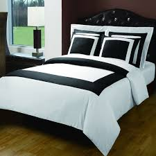 Duvet Bed Set Modern Hotel Black White Egyptian Cotton Framed 5pc Duvet Cover