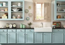 blue kitchen cabinets grey walls diy kitchen color schemes and paint ideas lowe s