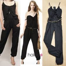 womens rompers and jumpsuits 2012 casual jumpsuit brand s black spaghetti sling