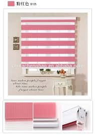 high quality pink color manual zebra roller blinds end caps for