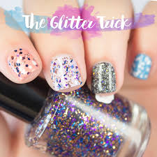 apply glitter nail polish evenly every time with the glitter trick