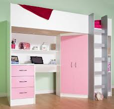 White And Pink Desk by High Sleeper Calder White Pink High Bed M227 P Amazon Co Uk