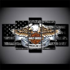 Harley Davidson Flags Harley Davidson Bar And Shield With Eagle And Black And White
