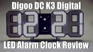 wall mounted digital alarm clock digoo dc k3 digital led alarm clock review from banggood youtube