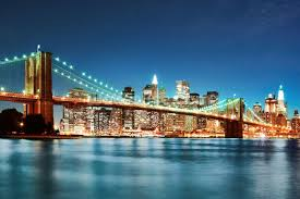 brooklyn bridge at night wallpaper wall mural wallsauce brooklyn bridge at night wall mural photo wallpaper