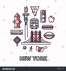 New York how does light travel images New york city vector outline illustration stock vector 588941363 jpg