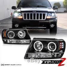 jeep grand cherokee led tail lights 2004 jeep grand cherokee wj black halo angel eye headlights led tail