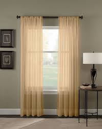 ideas best faux linen sheer curtain panels with black curtain