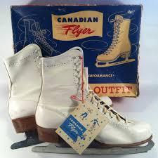 vintage womens boots size 11 find more vintage canadian flyer white leather skates s