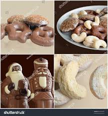 sweet christmas composition showing lebkuchen plate stock photo