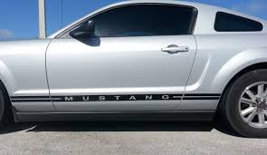 decals for ford mustang ford mustang side stripes and text lower door decal 2005 09