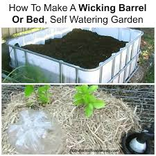 How To Make Self Watering Planters by How To Make A Wicking Barrel Or Bed Self Watering Garden Handy