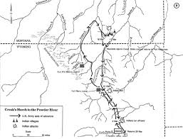Map Of Custer State Park by Crook U0027s Powder River Campaigns Of 1876 Wyohistory Org