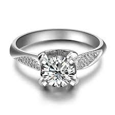 white girl rings images Florid beautiful 1ct lab synthetic diamonds ring 750 gold jewelry jpg