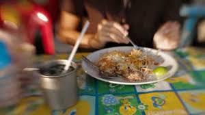 cuisine lens pad food in cuisine noodle stock