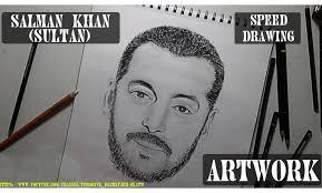 drawing of salman khan sultan artwork youtube