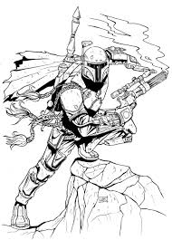 boba fett coloring pages printable images kids aim