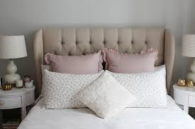 Tufted Linen Headboard by White Blush Pink Bedding Animal Sham Tufted Linen Wingback