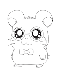 hamtaro coloring pages girls animals cartoon coloring pages