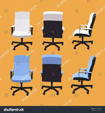 Leather Office Chair Front Desk Chair Front Back Side Collection Stock Vector 550059265