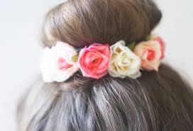 flower hair bun diy flirty flower bun wrap ft twistband