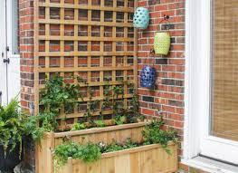 cedar planter box apex trellis planter elevated planter trellis