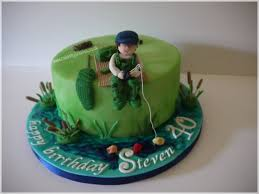 fishing themed birthday cake cake by cakes by julia lisa