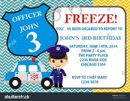14th birthday party invitations birthday party invitation little police theme stock vector