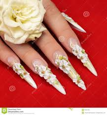 wedding design on nails stock photo image 50081691