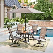 dining table statesville pewter 5 piece aluminum outdoor dining