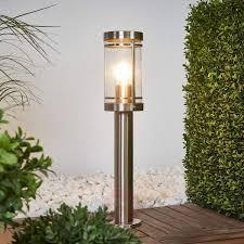 Patio Pillar Lights Stainless Steel Pillar Light Djori Lights Co Uk