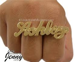 two finger name ring rings real diamonds cz personalized name rings by