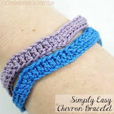 crochet bracelet images Simply easy chevron crochet bracelet oombawka design crochet jpg