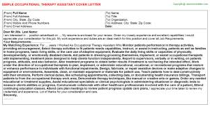 sample occupational therapy cover letter gallery of how to a