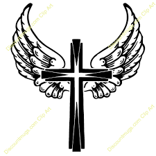 clipart wings on a cross clipart collection black christian