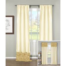 Swinging Curtain Rods For Doors by Faux Silk Luxury Curtains Embroidered Ready Made Lined Eyelet