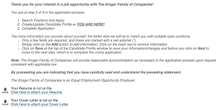 Resume Applying Job by Kroger Job Application Free Resumes Tips
