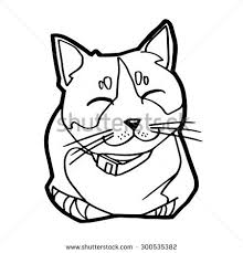 sketch cat on white background vector stock vector 300535382