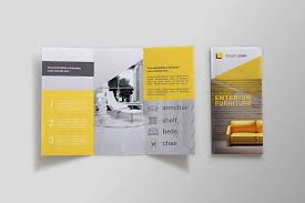 Tri Fold Program Furniture Tri Fold Brochure Sb Brochure Templates Creative
