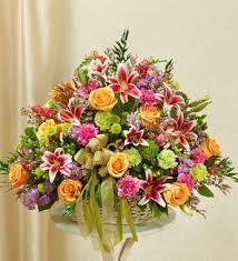 basket arrangements funeral basket arrangements fn ba008 everest florist and gifts