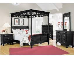 Wood Canopy Bed Bedroom King Black Canopy Bed Features Black Polished Oak Wood