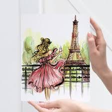 Eiffel Tower Accessories For Bedroom Paris Print Fashion Illustration Paris Wall Art Paris