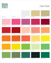 7 color chart examples samples