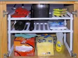 Under Kitchen Sink Storage Ideas Creative Ideas For Under Kitchen Sink Storage White Paterned